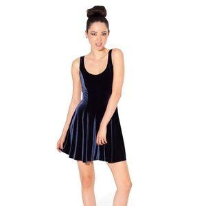 Velvet Deep Blue Evil Skater Dress